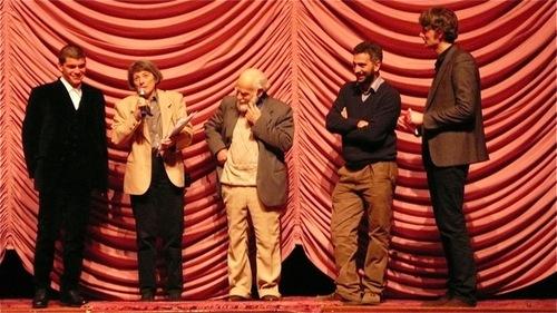 Salvatore Mereu con Francesco Falchetto e Serafino Spiggia al Festival di Berlino